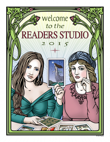 The Readers Studio: April 24-26, 2015 — 3 days of intense Tarot learning and fun for Tarot Enthusiasts! Plus an all-day Tarot & Psychology conference on Thursday, April 23rd. Produced by The Tarot School.